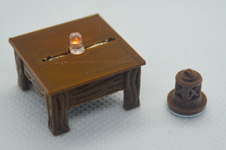 1 Square Wooden Lantern Table Base for Tavern / Inn image 0