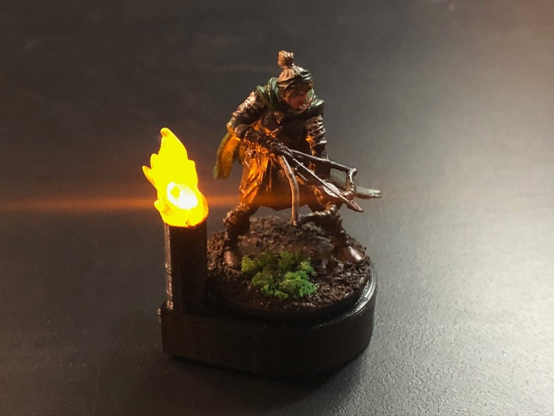 Torch Marker with Flickering LED for Dungeons and Dragons D&D image 0