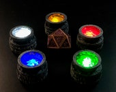 Tiny 28mm elemental brazier with Flickering LED light for Dungeons and Dragons D&D