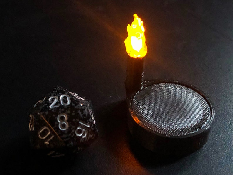 Torch Marker with Flickering LED light for Dungeons and image 0