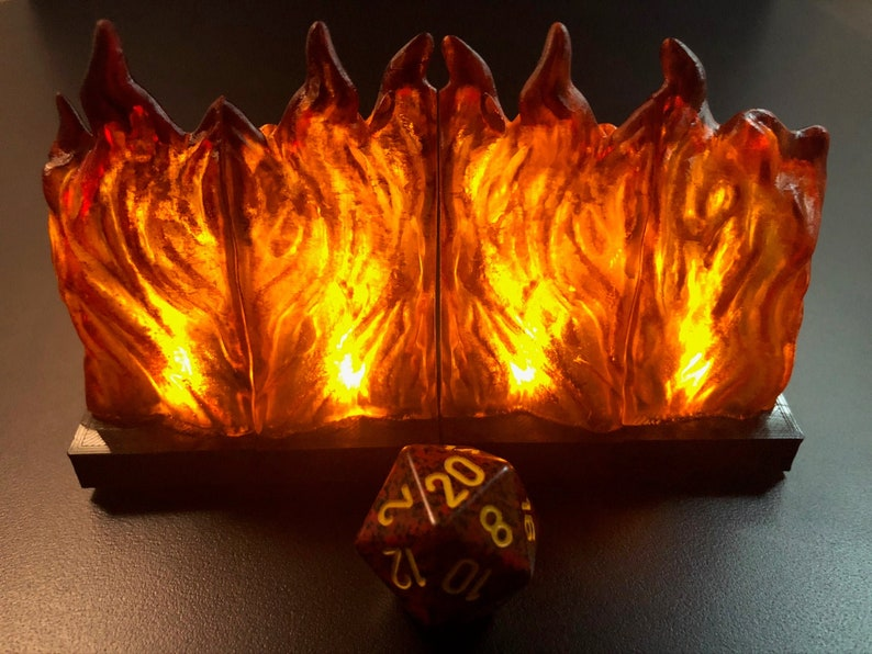 Modular Wall of Fire with flickering LED lights for Dungeons image 0