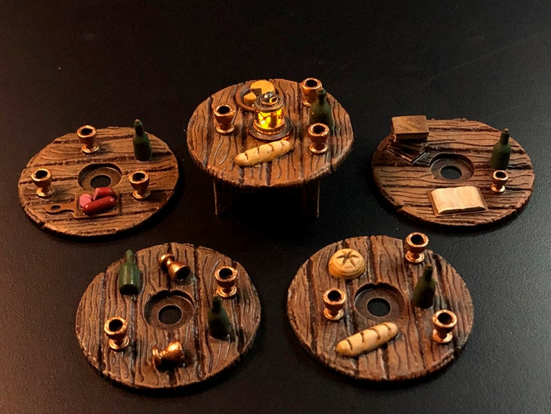 Tavern / Inn Table Set with Swappable Tops for Dungeons and image 0