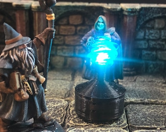 """Driftglobe with """"Breathing"""" LED light for Dungeons and Dragons D&D"""