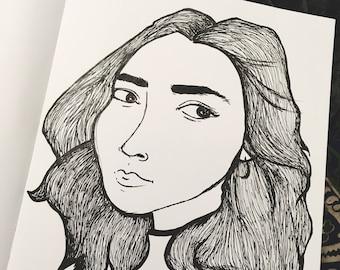 Woman with Hoop Earrings
