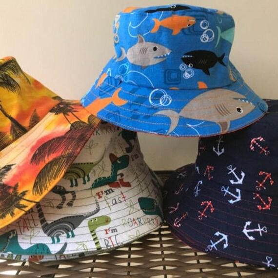 Bucket Hat Kids Unisex Infants Hat Hawaiian Print Summer Hat  a2d855e06602