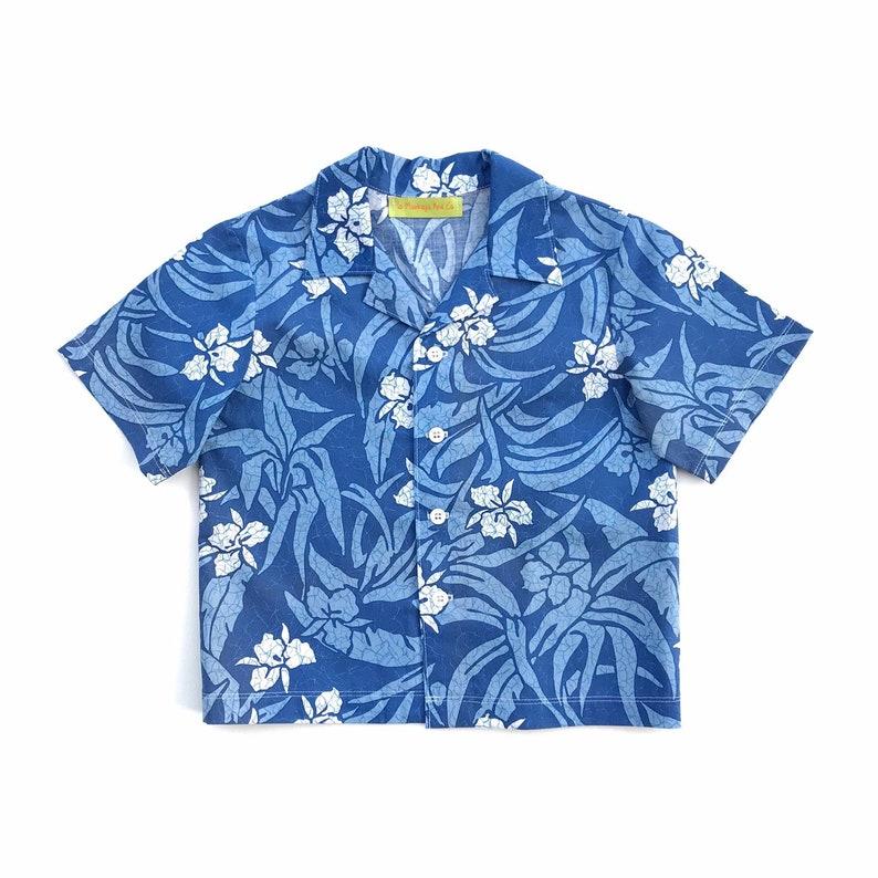 0ad0b29a0 Little Boys Blue Hawaiian Shirt Toddlers Tropical Print | Etsy
