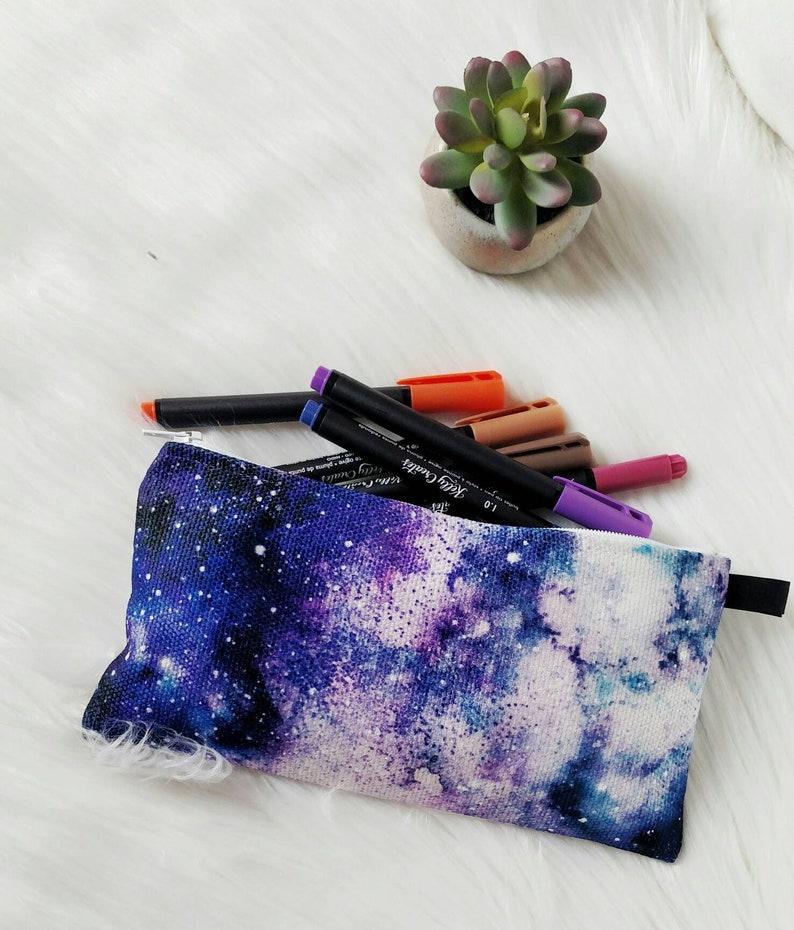 Galaxy Zipper Case~Galaxy Pencil Case~Galaxy Pouch~Watercolor Galaxy~Art Supply Pouch~Pencil Case~Cloth Zipper Pouch~Travel Art Supply Case
