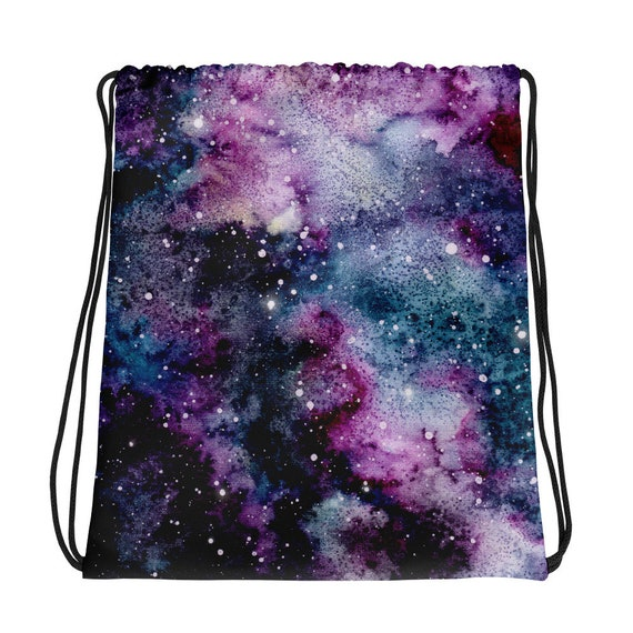 Drawstring Backpack Astronaut Space Galaxy Gym Bag