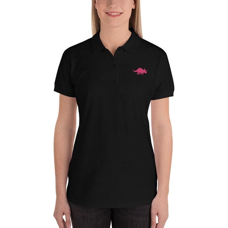 Dinosaur Women/'s Polo Shirt~Board Game Enthusiast Dinomeeple Work Shirt