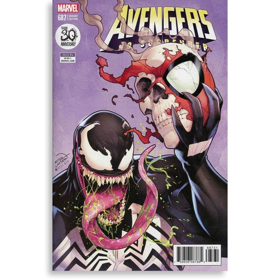 Avengers #687 VENOM VARIANT Amazing Spider-Man #347 Homage Cover