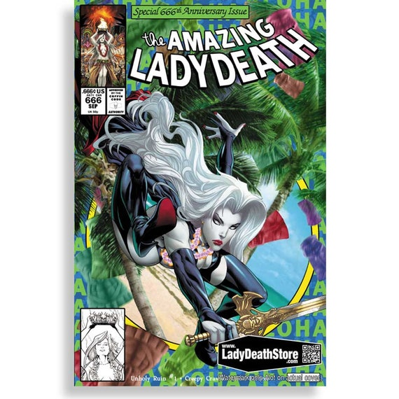 Lady Death: Unholy Ruin #1 - Creepy Crawler Aloha Edition