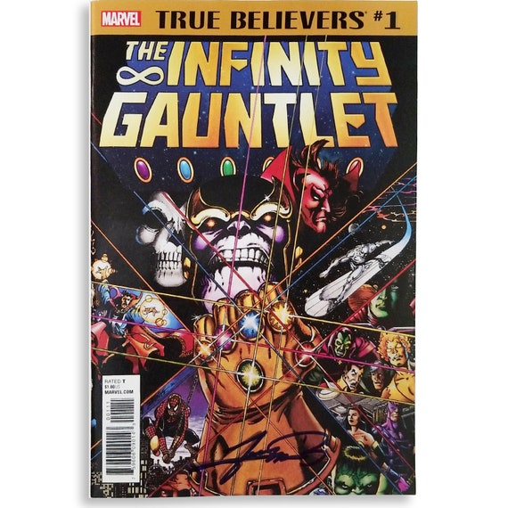 Infinity Gauntlet #1 True Believers SIGNED by George Pérez!