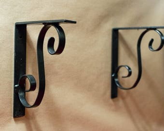 Birthday Gift for Her, Home Decor: Hand Forged Shelf Brackets
