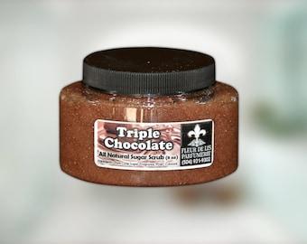 Triple Chocolate All Natural and Handmade Sugar Scrub 8 oz