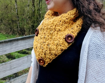 All Buttoned Up Scarf | Honey