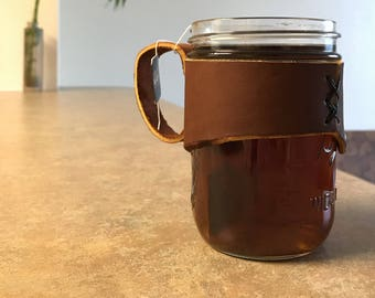 The Commuter - Leather Wrapped Mug