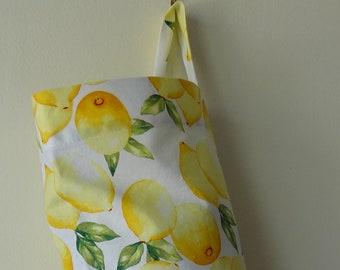 Grocery Bag Holder - Lemons