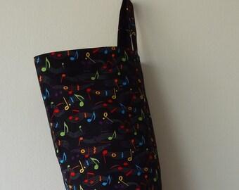 Grocery Bag Holder - Music Symbols in Color