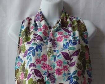 Ladies Dining Scarf - The Adult Bib That Doesn't Look Like A Bib - Spring Floral