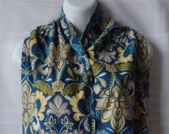 Ladies Dining Scarf - The Adult Bib That Doesn't Look Like A Bib - Vintage Floral