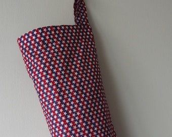 Grocery Bag Holder - Patriotic, Red White and Blue
