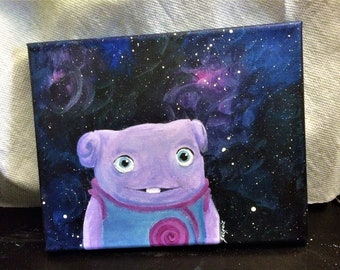 Oh Home Character Galaxy Star 8x10 Acrylic Painting