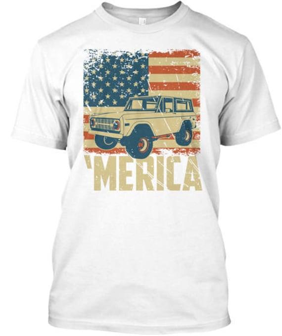 Ford Bronco Offroad Truck 69 T-Shirt Mens T-Shirt 1966-1971