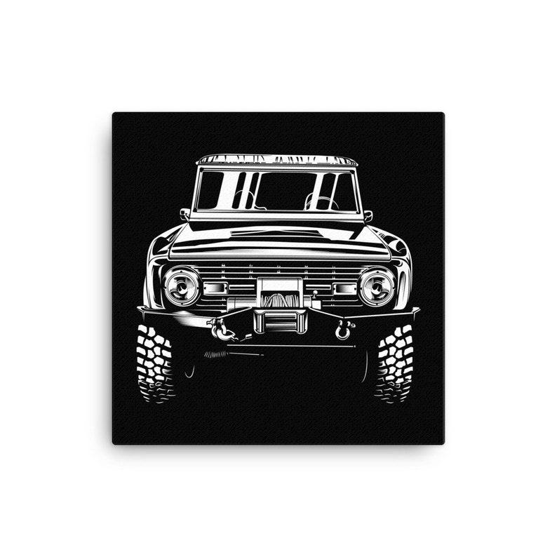 Bronco Art Fade-resistant Matte finish coating Garage Art Office Print 1966-1974 Ford Bronco Canvas Print Man Cave