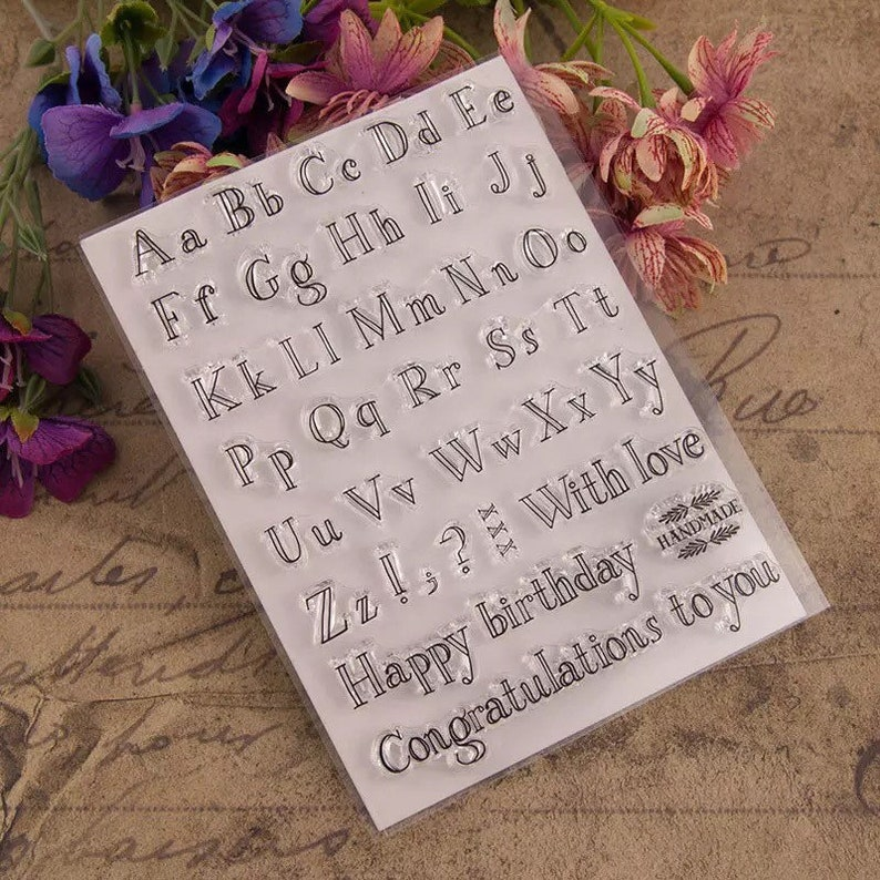 Alphabet Clear Rubber Stamps Letters Stamp Capital