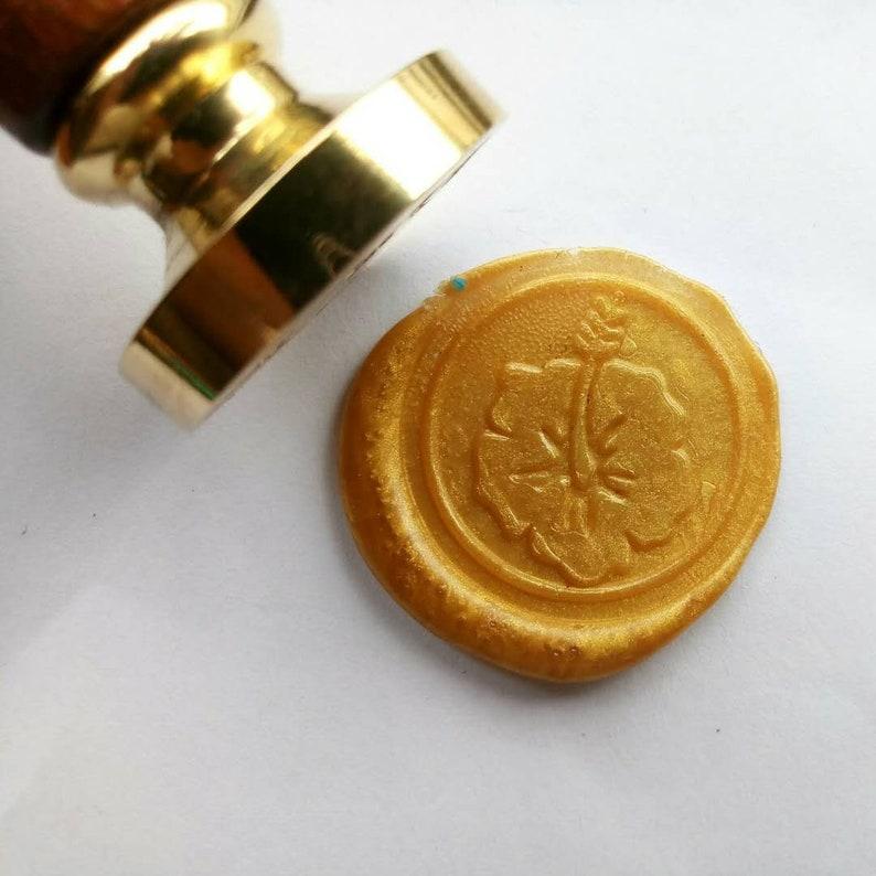 Hibiscus flowers Wax Seal Stampplant Wax Stamp Kit Cactus Wax StampWax sealing kitwedding invitation wax seal stamp