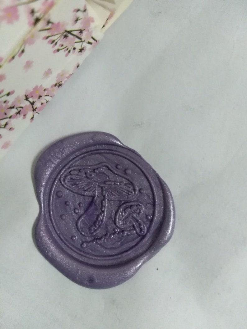 Mushroom Wax Seal Stampfungus Wax Stamp Kit love line Wax StampWax sealing kitwedding invitation wax seal stamp