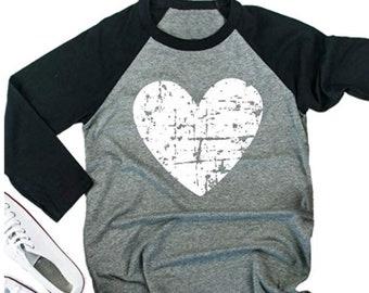 de043f70 Valentines Day Shirt Women   Christian Valentines Shirt   Raglan Baseball   Distressed Heart