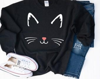 Black Cat Skirt Womens Plus Size Clothing Pin up Cute Cats Pencil Skirts screen printed Retro kitty dress 2XL 3XL Spring Crazy cat lady
