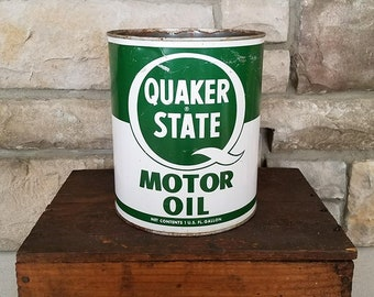 Vintage Quaker State 1 Gallon Motor Oil Can - Oil City, PA