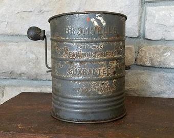 Bromwell's Measuring Flour Sifter - Vintage Farmhouse Decor
