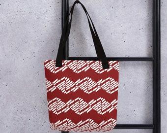 Tote bag Overall print tote bag Brick-style Papercut Design