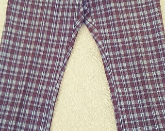 Vintage Levi's Panatela Flared Legs Plaid Disco Pants - 1970's era