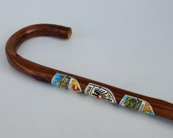 Set of 2 Vintage German Walking Stick Badges with NailsCollectible Cane Metal BadgesWalking Stick DecorHiking MedallionHiking Badge