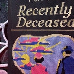 Beetlejuice - Handbook for the Recently Deceased FULL BOOK COVER Cross Stitch Pattern - gothic, modern, horror, funny, movie, Beetlejuice
