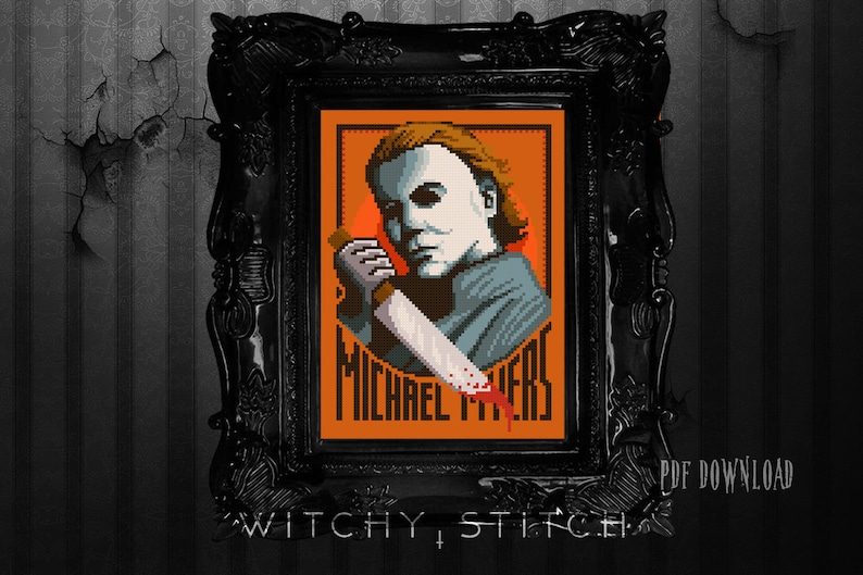 86a4046a93c0 Michael Myers Halloween Cross Stitch Pattern Horror