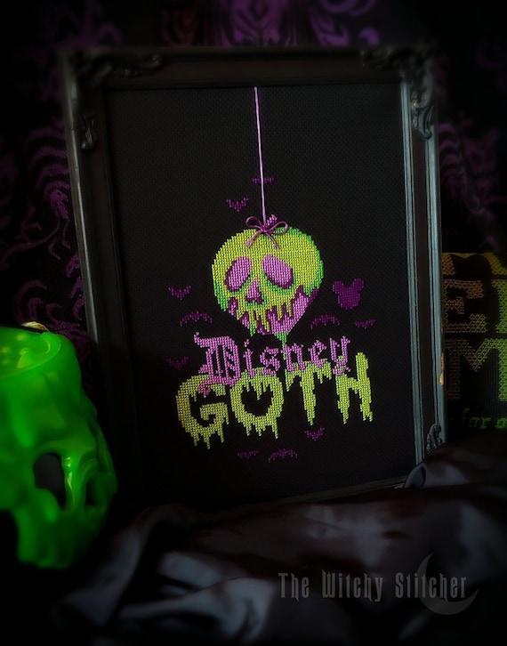 Pattern Disney Goth Gothic Cross Stitch Pattern Snow Etsy