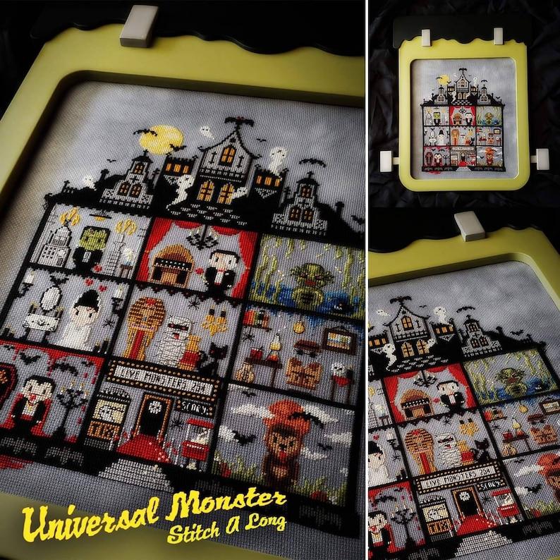 Universal Monster Stitch A Long SAL Cross Stitch Pattern  image 0