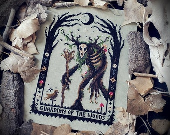 Leshy - Cross Stitch Pattern ~ Witch, Gothic, Witchcraft, Slavic Folklore, Forest Spirit, Guardian Of The Woods, Russian, Leshen, Witcher
