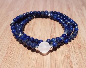New! 108 Lapis Lazuli Mala - Awareness, Power, Protection