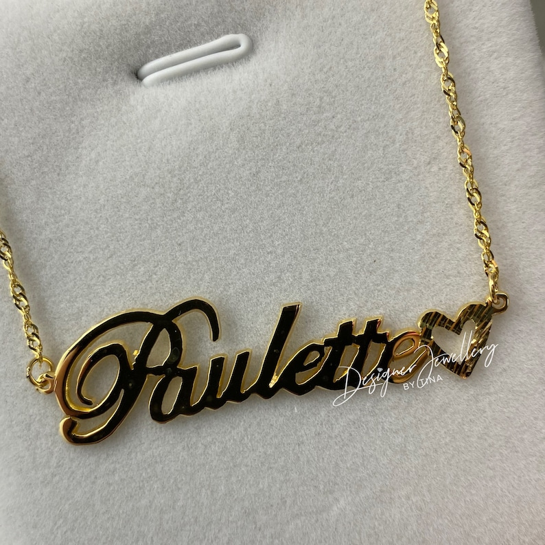 Personalized 10k Solid Gold Script Name Necklace