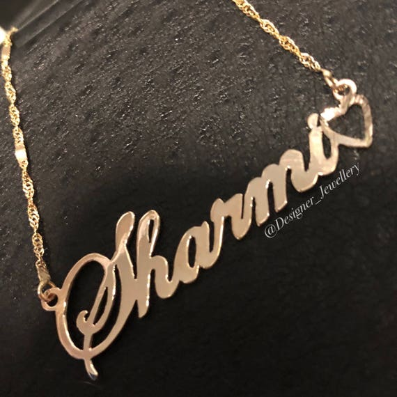 e2bdc68cbe442b Personalized Sharmi style name necklace   Etsy