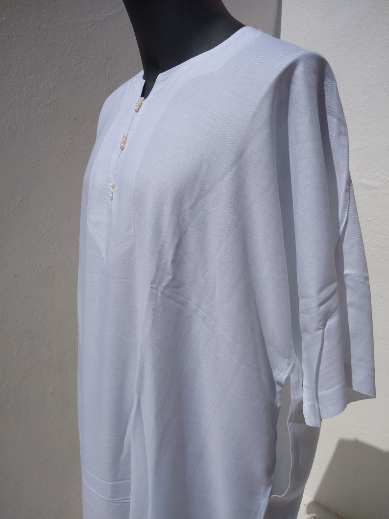 Size 56 Quality 2 pack of Moroccan thin short sleeve djellaba Moroccan thobe Jalabiya Qamees Kaftan Jubba