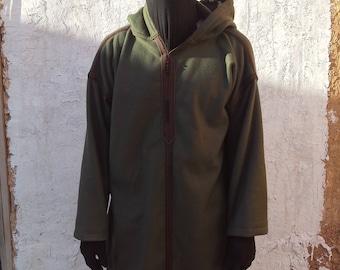 """Thick Winter Fleece Moroccan Hooded Djellaba Jalabiya Thobe Qamees Jubba Jilbab kaftan Caftan 55"""""""