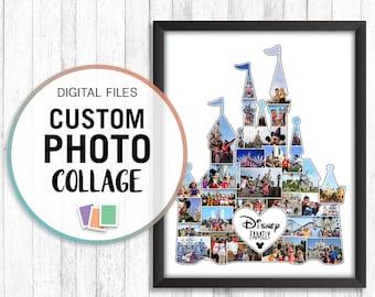 Personalised Disney Land Paris photo memory collage Castle Digital file