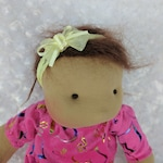 Mango: A 14 inch Waldorf Inspired Cloth Baby Doll, Handmade by Netchie Dolls. Lets Play Pretend